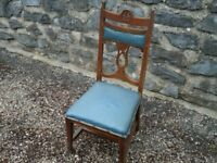 Old Antique Style Chair Solid Oak Wood Nice For Shabby Chic A Bargain