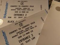 2 country to country tickets