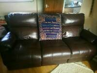 Leather electric chair recliner 3seater leather reclining sofa immaculate condition collection only