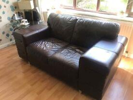 Genuine Italian leather sofa 2 seater