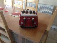 Delongi 4 slice toaster