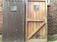 OAK GARAGE DOORS IN VERY GOOD CONDITOIN