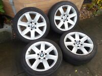 BMW Alloy Wheels with Tyres - Style 44, 225 45 17, 5 x 120