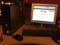 """Used Windows Dell XP Optiplex Pc LOT Base Unit 15"""" LED Monitor/Keyboard/Mouse/Ideal Surfing The Web!"""