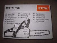 Stihl MS180 Petrol Chainsaw - Brand New In Box