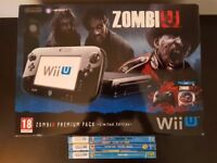 New Wii U ZombiU Premium Pack Limited Edition and games (NEW)