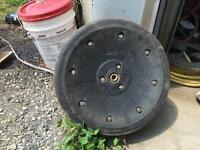34 Press wheels wheels off a 1790 John Deere planter