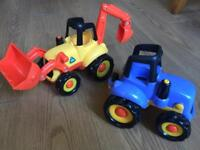 Early Learning Centre Happyland Digger & Tractor