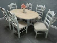 Oval Extending Table and six chair set - Bespoke