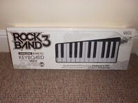 Official Rock Band 3 Wireless Keyboard for Nintendo Wii (BRAND NEW, BOXED & SEALED)