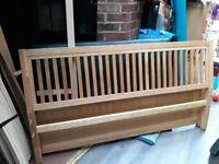 Solid Wood Kingsize Bed Frame Only