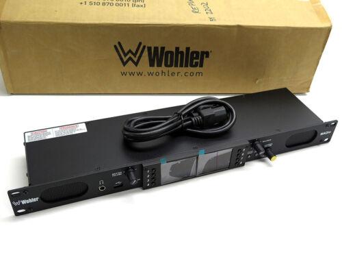 Wohler AMP1-MADIe-MM audio monitor 64-ch MADI speaker multi-mode optical fiber