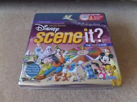 Disney Scene it ? Deluxe edition Tin DVD Family Trivia Board game. Complete set.