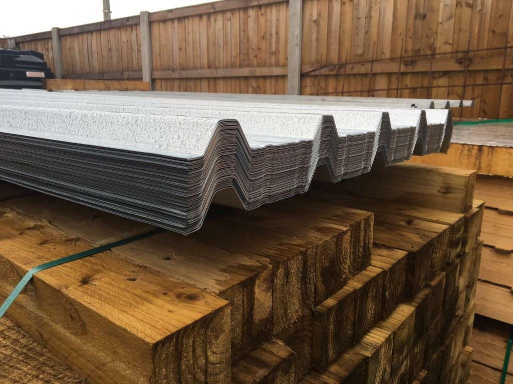 🍁New Box Profile Roof Sheets @ set of 50 * £500