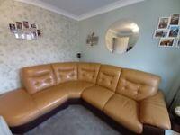 Corner sofa and matching storage foot stool