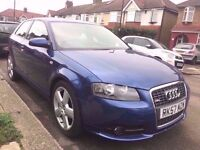 AUDI A3 2.0 TDI** S-LINE** AUTOMATIC** FULLY LOADED 2007