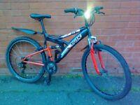 Trax mountain bike - full suspension , mudguard !