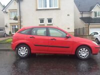 Ford Focus 2002/52 low miles 79000 mot Dec 16
