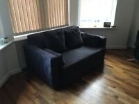 BLACK SOFABED FOR SALE - MUST GO ASAP - FREE DELIVERY LONDON POSTCODES - £125