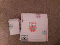 Pretty Owls Blackout Pencil Pleat Curtains