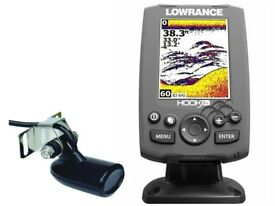 Lowrance Hook 3 Fish Finder & Depth Sounder with transducer, brand new in box