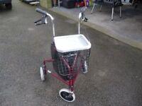 3 wheel Rollator walking aid. Almost new.