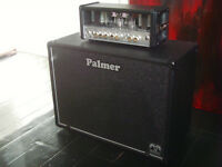 Hughes and Kettner Tubemeister 18 valve head with Palmer 1x12 cabinet, footswitch - guitar amplifier