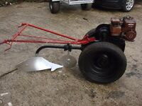 for sale garden tractor and plougs villiers good condition