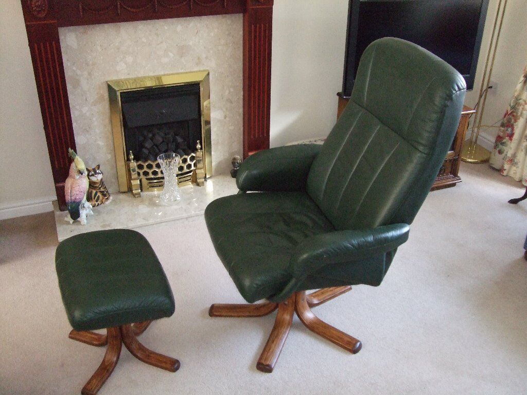 Green Leather Reclining Buy Sale And Trade Ads Great Prices