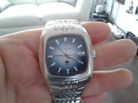 """GENTS FOSSIL """"BLUE""""WATCH PERFECT CONDITION SWAP ??"""