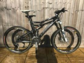 Cannondale z one twenty full suspension mountain bike will post
