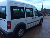 Ford Transit Connect LWB 1.8TDCi Tourneo High Roof 8 Seat 2009, 64456 miles