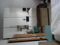Triple wardrobe large, mirrored, Ikea