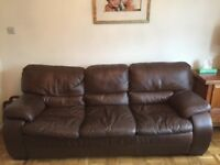 Leather Sofa - soft brown leather