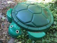 Little tikes green turtle sand pit