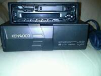 ?For Sale car kenwood radio cassette with 10 disc auto changer £70-00 Ph 07708937920