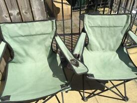 Fold up -Camping-fishing Chairs- Only £8 for both