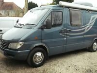 Mercedes Sprinter Campervan ,2.2 DIESEL-2 BERTH-2001-VERY LOW MILEAGE!!
