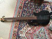 Vintage brand fretless jazz bass