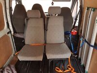 Rear van seats for day/camper vans