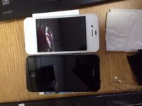 iphone 4S black open & iphone4 white open to all net work, mint condition