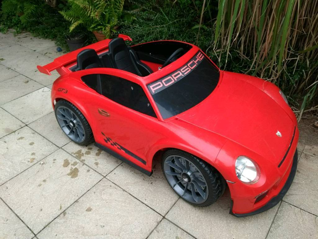 Kids 2 Seater Porsche Gt3 Electric Car Only Available In America