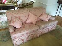 Pink silk 3 piece suite