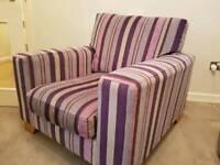 Next striped armchair