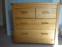 Mamas and Papas Ocean Solid Golden Oak Changing Unit and Matching Shelf