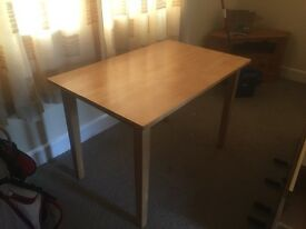 Small beech dining table