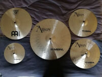 Used Meinl Amun and Classic cymbal set with bag