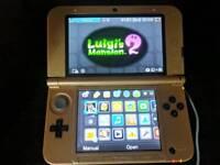 Nintendo 3DS XL limited edition Gold zelda a link between worlds.