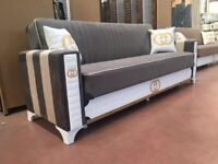 Sofa-bed 3 seaters available in different colours same/next day delivery