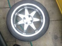 WOLFRACE 17in DEEP DISHED ALLOYS 4X108 SPARES REPAIR HENCE £80 COLLECTION ONLY